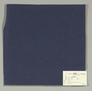 Plain weave with doubled warps and wefts in dark blue. Weave structure adds a subtle surface texture. Number 288.