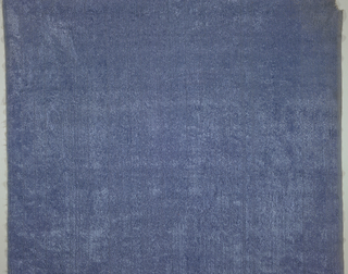 Blue plain fabric.