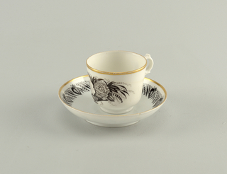 Rose and Carnation Cup And Saucer