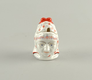 Head of Old Woman Mustard Pot And Lid