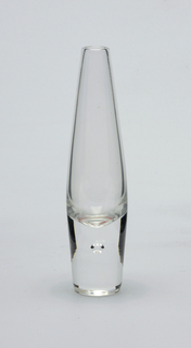 Clear glass, bud vase