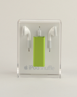 Green aluminum rectangular form.