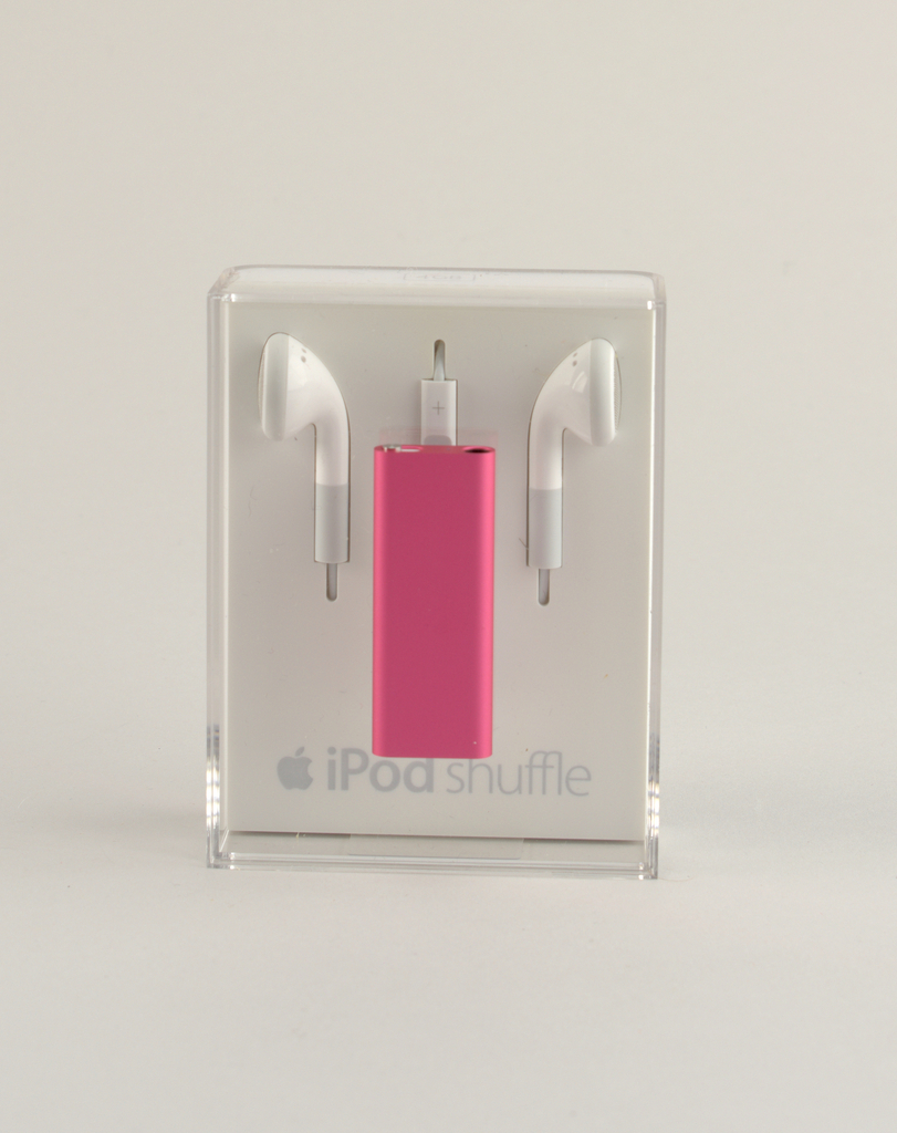 Pink aluminum rectangular form.