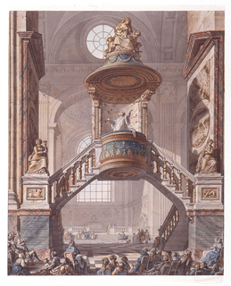 Drawing, View of the Pulpit, Saint Sulpice, Paris (Second Project)