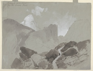 Drawing, Back of the South Dome from the Nevada Trail, Yosemite