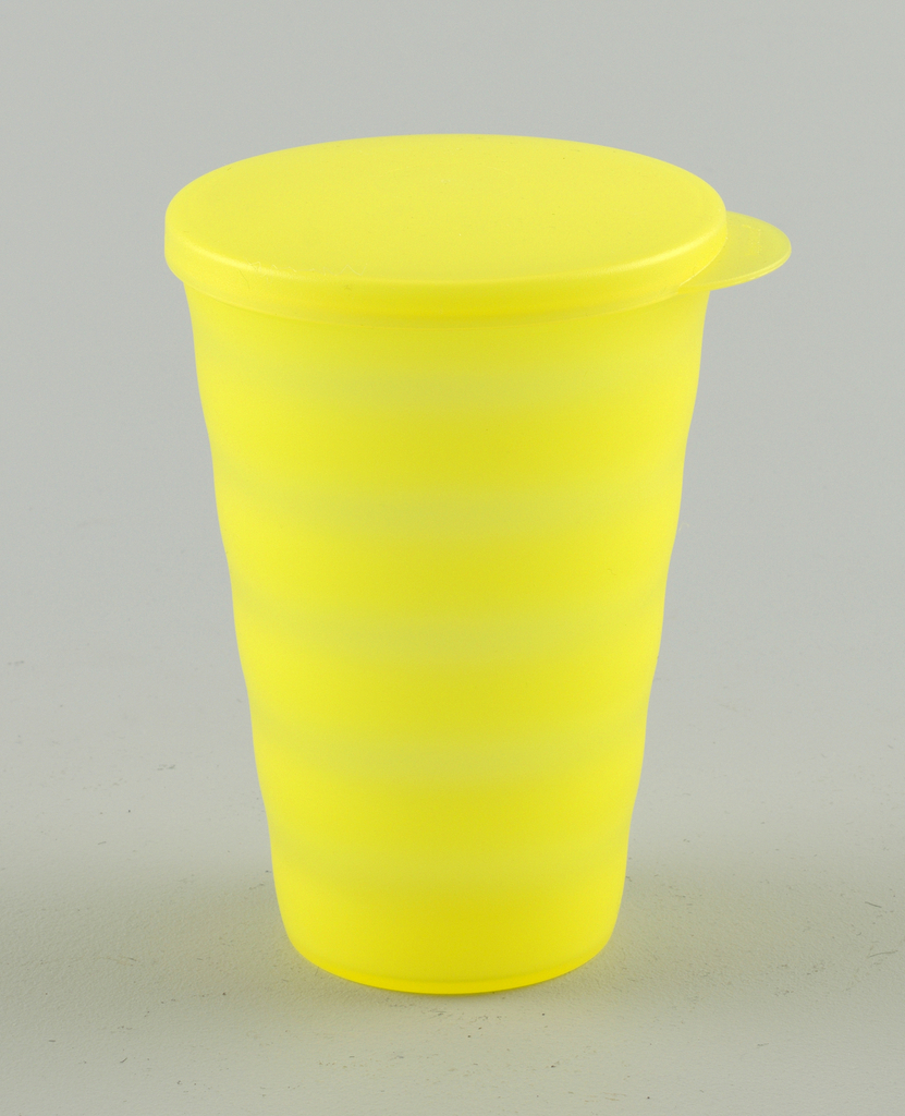 large, with cover, yellow