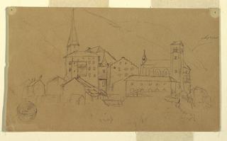 Drawing, Valais, Switzerland, August 1868