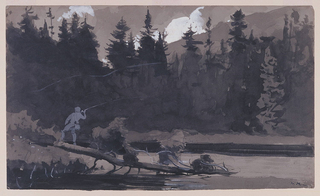 Drawing, Fisherman in Quebec, Canada