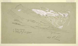 Drawing, From the Bernese ALps, Bel Arp, August 1868