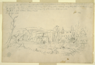 Verso: Landscape with a Mill and Stream