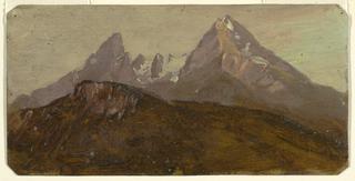 Drawing, The Watzmann, Berchtesgaden, Bavaria, 1868