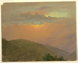 Drawing, Hilltop at sunset, July 1865