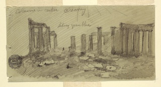 Drawing, Parthenon, Athens from the West, April 1869
