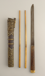 Chopsticks, Knife And Case (Japan), mid-19th century
