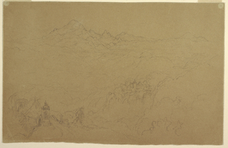 Drawing, Andes Landscape, July 1853