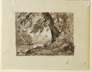 Drawing, Imaginary River Landscape, ca. 1870–73