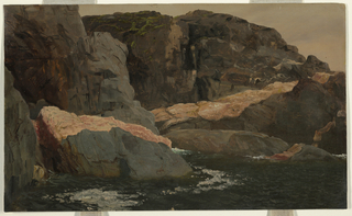 Steep rocky coast. verso, caption as copied, written with pencil.