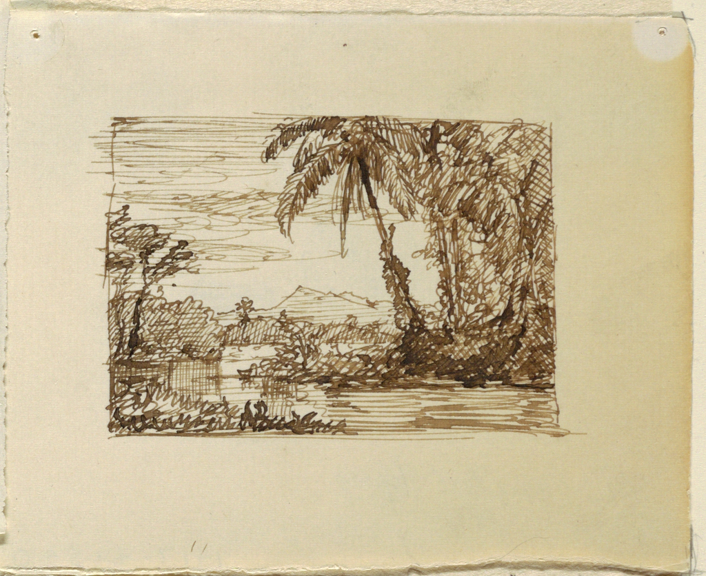 Drawing, Imaginary Landscape with