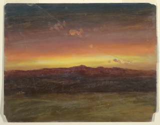 Drawing, Sunset, 1860–70