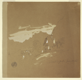 Drawing, Houses near Berchtesgaden, Bavaria, July 26, 1868
