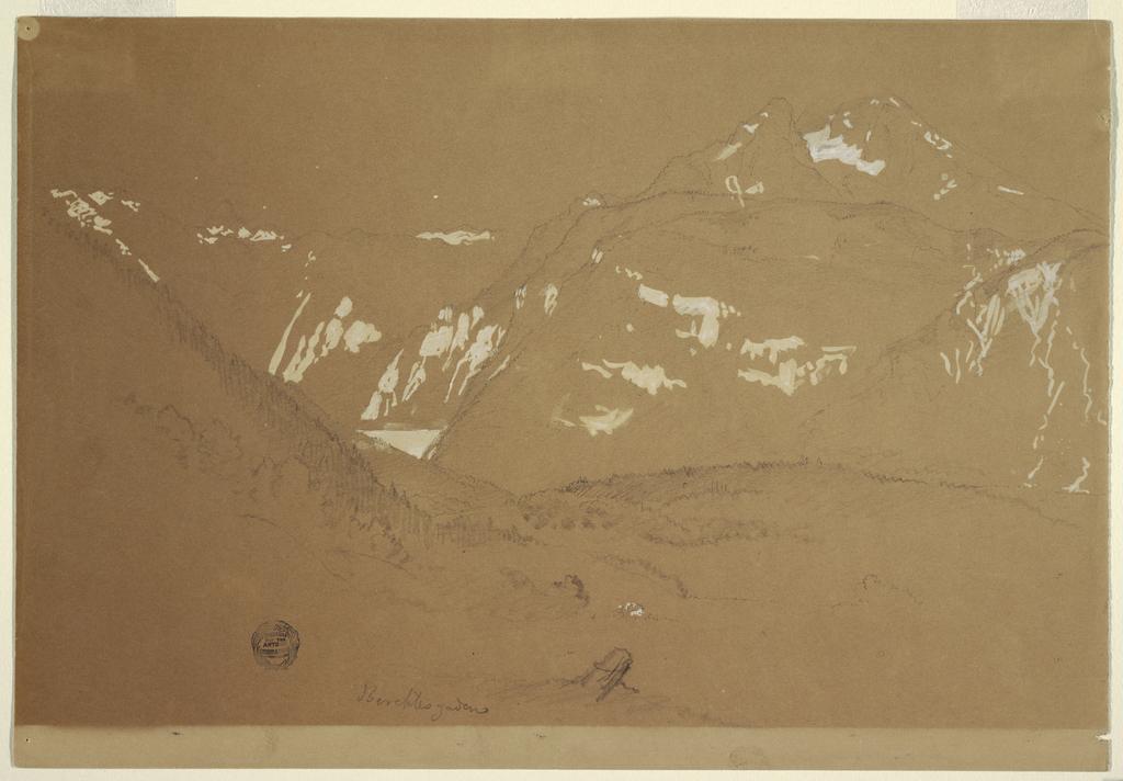 Verso: Mountain landscape
