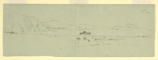 Drawing, View of the Peninsula of Sorrento of Capri, Italy from the Northeast, 1869