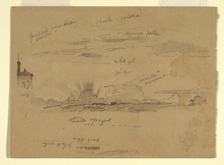 Drawing, Sketches from Rome, Italy, November 1868