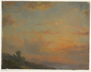 Drawing, Cloud study, sunset, 1850–60