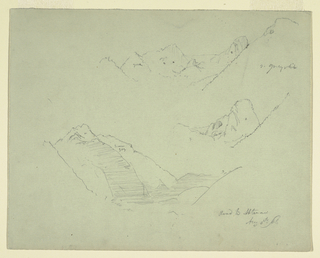 Drawing, Mountains near Abtenau, Salzkammergut, August 5, 1868