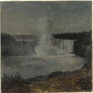 Horizontal view of Horseshoe Falls and the river below.