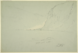 Drawing, Landscapes near Austria, August 5, 1868
