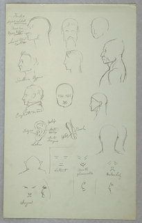 Drawing, Anatomical Studies, 1865–70