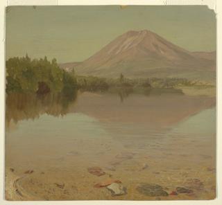 Drawing, Mt. Katahdin from Lake Katahdin, possibly 1870