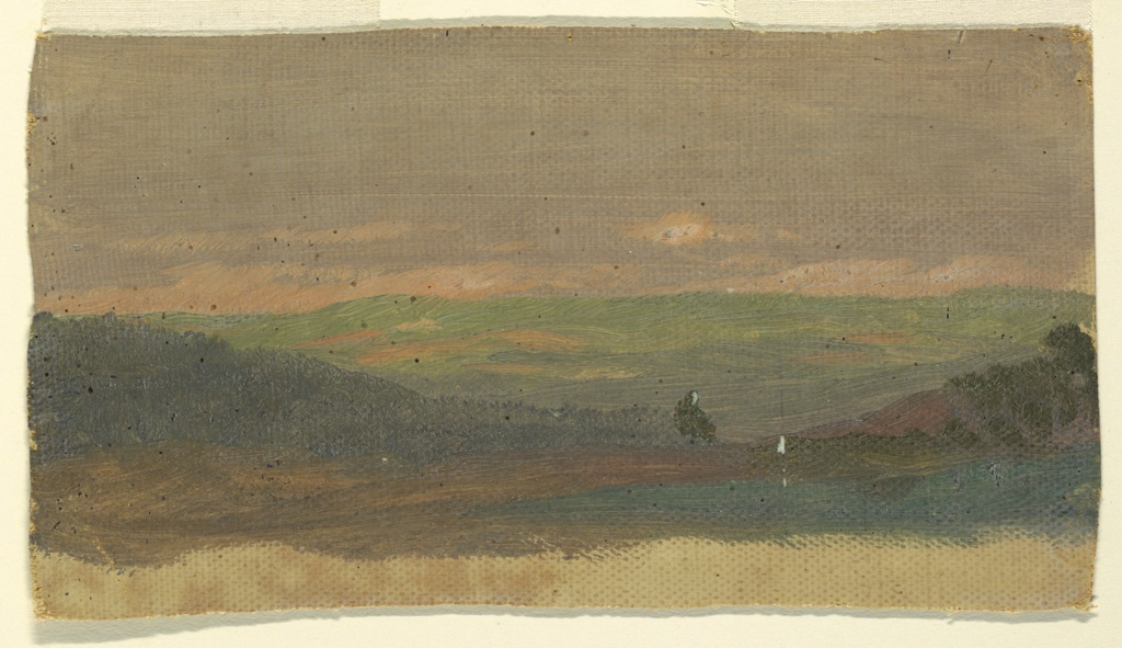 Painting, Hillside, 1860–70