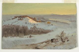 Drawing, Hudson Valley, New York in Winter