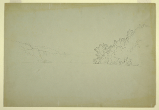 Drawing, Niagara Falls from Northwest, 1856