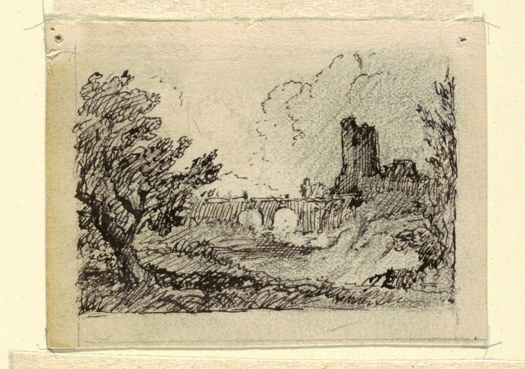 Drawing, Imaginary Landscape with, ca. 1870–73