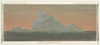 Drawing, Iceberg Against Evening Sky