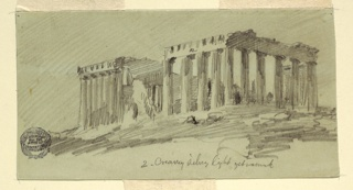 Drawing, Parthenon, Athens from the Southeast, April 1869