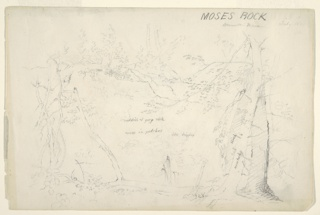 Drawing, Moses Rock, Mountain House