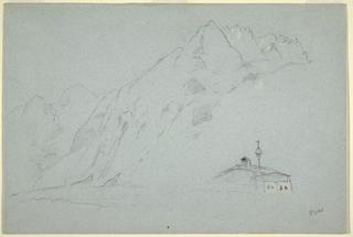Drawing, Mountains near Abtenau. Salzkammergut, August 5, 1868