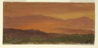View of mountain range.
