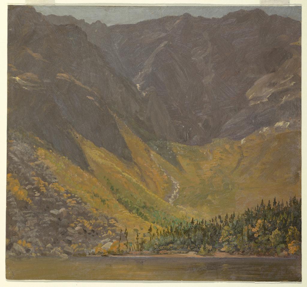 Drawing, Great Basin, Mount Katahdin, Maine