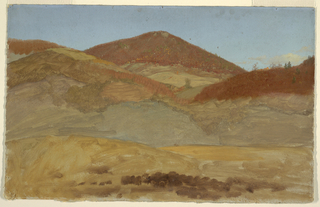 Drawing, Hilly Landscape, Autumn, 1870–80