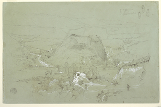 Drawing, Landscape Near Guaranda, Ecuador