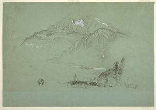 Drawing, Near Berchtesgaden, Bavaria, June 30, 1868