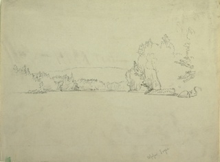 Drawing, Upper Togue Lake, ca. 1885