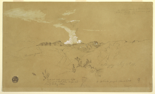 Drawing, Volcano, Sangay, July 11, 1857