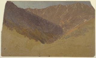 Drawing, Study of the Great Basin,  Mt. Katahdin, 1860–70