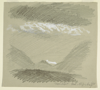 Drawing, From the Bernese Alps, Bel Alp, August 1868
